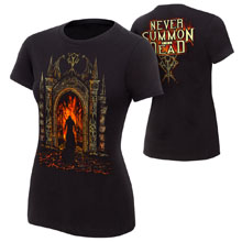 "Undertaker ""Never Summon The Dead"" Women's Authentic T-Shirt"