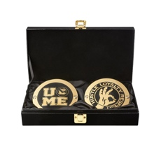 John Cena WWE World Heavyweight Championship Replica Title Side Plate Box Set