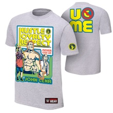 "John Cena ""Throwback"" Gray Youth Authentic T-Shirt"