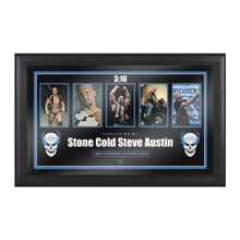 "Stone Cold"" Steve Austin Evolution of a Hall of Famer Plaque"