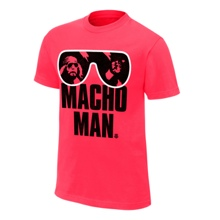 "Macho Man"" Randy Savage Pink T-Shirt"