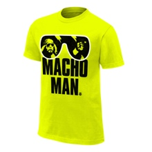 "Macho Man"" Randy Savage Safety Green T-Shirt"