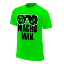 "Macho Man"" Randy Savage Neon Mint Heather T-Shirt"