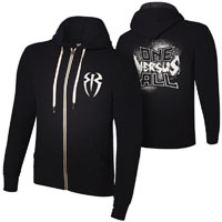 "Roman Reigns ""One Versus All"" Unisex Lightweight Full-Zip Hoodie Sweatshirt"