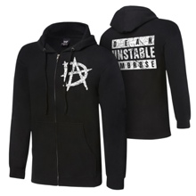 "Dean Ambrose ""Unstable"" Youth Lightweight Raglan Full-Zip Hoodie Sweatshirt"