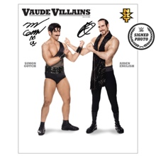 The VaudeVillains Signed NXT Photo