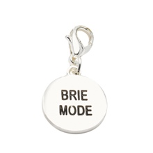 Brie Mode Silver Charm