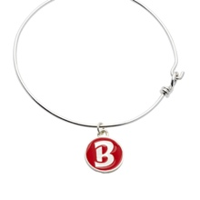 Bella Twins Red Logo Silver Wire Bracelet