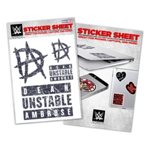 Dean Ambrose Vinyl Sticker Sheet