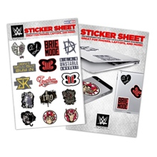 WWE Superstars Vinyl Sticker Sheet