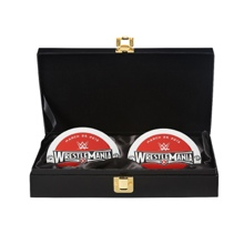 WrestleMania 31 WWE World Heavyweight Championship Replica Title Side Plate Box Set