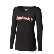 WrestleMania 31 Scoop Neck Women's Long Sleeve Shirt