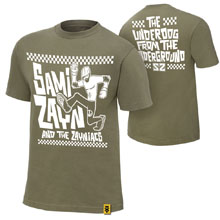 "Sami Zayn ""Underdog From The Underground"" Authentic T-Shirt"