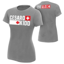 "Cesaro & Tyson Kidd ""Established"" Women's Authentic T-Shirt"