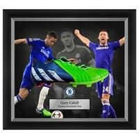 Chelsea Gary Cahill Hand Signed Boot - Framed