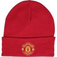Manchester United 3 Stripe Woolie Hat Red