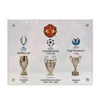 Manchester United Past Winners UEFA Trophy Collection in Acrylic Plates