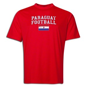 Paraguay Polyester T-Shirt Red L
