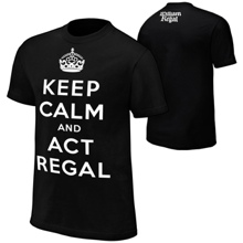 "William Regal ""Keep Calm & Act Regal"" Black Youth Authentic T-Shirt"