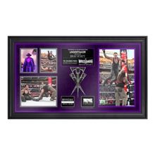 The Undertaker Commemorative WrestleMania 31 Framed Ring Rope Framed Collage