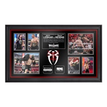 Roman Reigns vs. Brock Lesnar WrestleMania 31 Commemorative Ring Rope Framed Collage