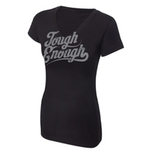Tough Enough Women's Black V-Neck T-Shirt