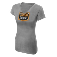 Tough Enough Women's Grey V-Neck T-Shirt