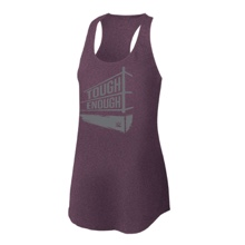 Tough Enough Purple Women's Tri-Blend Racerback Tank Top