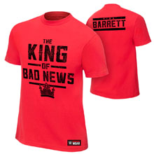 "Bad News Barrett ""King of Bad News"" Authentic T-Shirt"