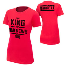 "Bad News Barrett ""King of Bad News"" Women's Authentic T-Shirt"