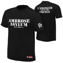 "Dean Ambrose ""Unhinged and on the Fringe"" Youth Authentic T-Shirt"