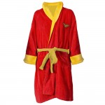 Wonder Woman Logo Cotton Bathrobe