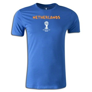2014 FIFA World Cup Brazil Netherlands Supersoft T-Shirt Round of 16 Royal 3XL