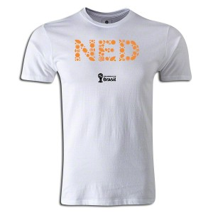 2014 FIFA World Cup Brazil Netherlands Supersoft T-Shirt White L