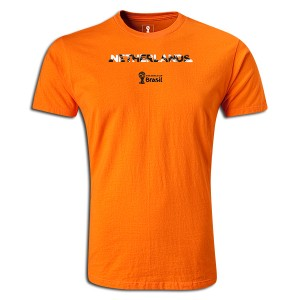 2014 FIFA World Cup Brazil Netherlands Supersoft T-Shirt Orange L