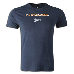 2014 FIFA World Cup Brazil Netherlands Supersoft T-Shirt Navy L