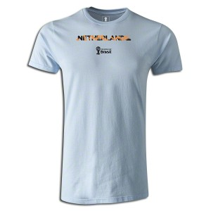 2014 FIFA World Cup Brazil Netherlands Supersoft T-Shirt Sky Blue L
