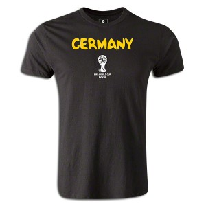 2014 FIFA World Cup Brazil  Germany Supersoft T-Shirt Black L