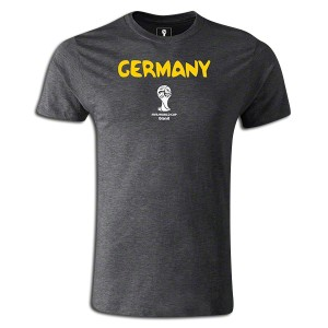 2014 FIFA World Cup Brazil  Germany Supersoft T-Shirt Dk Grey L