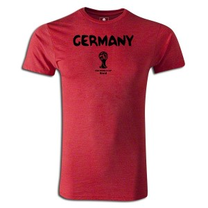 2014 FIFA World Cup Brazil  Germany Supersoft T-Shirt Round of 16 Red L