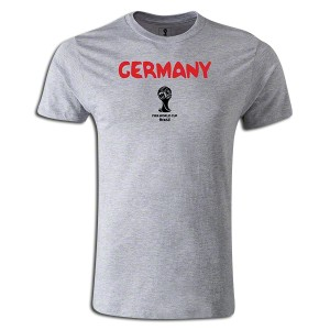 2014 FIFA World Cup Brazil  Germany Supersoft T-Shirt Grey L