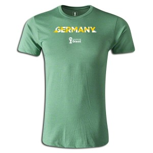 2014 FIFA World Cup Brazil  Germany Supersoft T-Shirt Green L