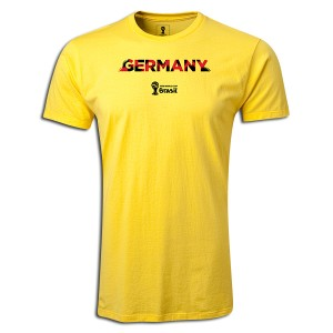 2014 FIFA World Cup Brazil  Germany Supersoft T-Shirt Yellow L