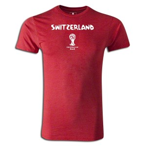 2014 FIFA World Cup BrazilSwitzerland Supersoft T-Shirt Red L