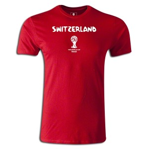 2014 FIFA World Cup BrazilSwitzerland Supersoft T-Shirt Round of 16 Red L