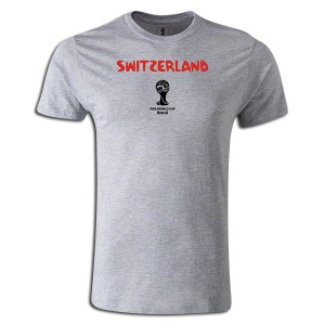 2014 FIFA World Cup BrazilSwitzerland Supersoft T-Shirt Grey L
