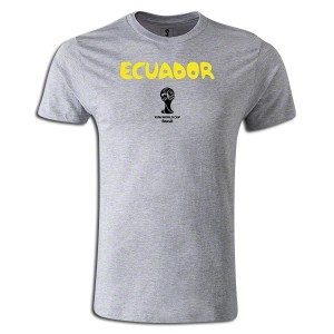 2014 FIFA World Cup Brazil Supersoft Ecuador T-Shirt Grey L