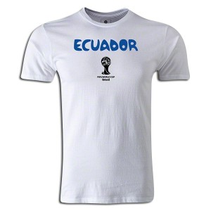 2014 FIFA World Cup Brazil Supersoft Ecuador T-Shirt White L