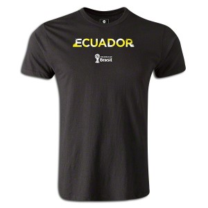 2014 FIFA World Cup Brazil Supersoft Ecuador T-Shirt Black L