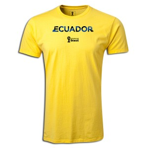 2014 FIFA World Cup Brazil Supersoft Ecuador T-Shirt Yellow L